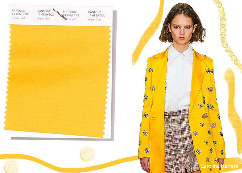 Pantone Spring/ Summer 2019 Colors Trends: Aspen Gold