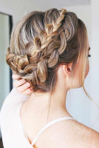 Popular Styles: Upside Down, Twisted Crown, And Milkmaid Double #braids #updo
