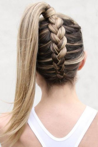 Popular Styles: Upside Down, Twisted Crown, And Milkmaid Ponytail #braids #updo #ponytail
