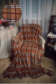 Покрывало КЛЕТКА в коричневом