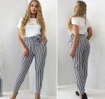 Широкие штаны в полоску – С чем носить полосатые брюки ? (50 фото)